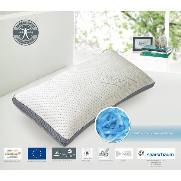 Silvercare Gelsoft-Schlafkissen 80 x 40 cm